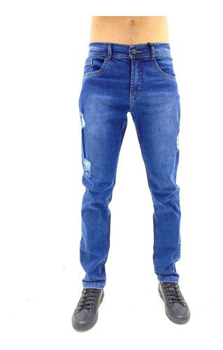 CALÇA VOOX  JEANS SKINNY  DESTROYED MASCULINO