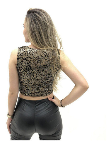 CROPPED PLANET GIRL  REGATA ANIMAL PRINT PAETE FEMININO