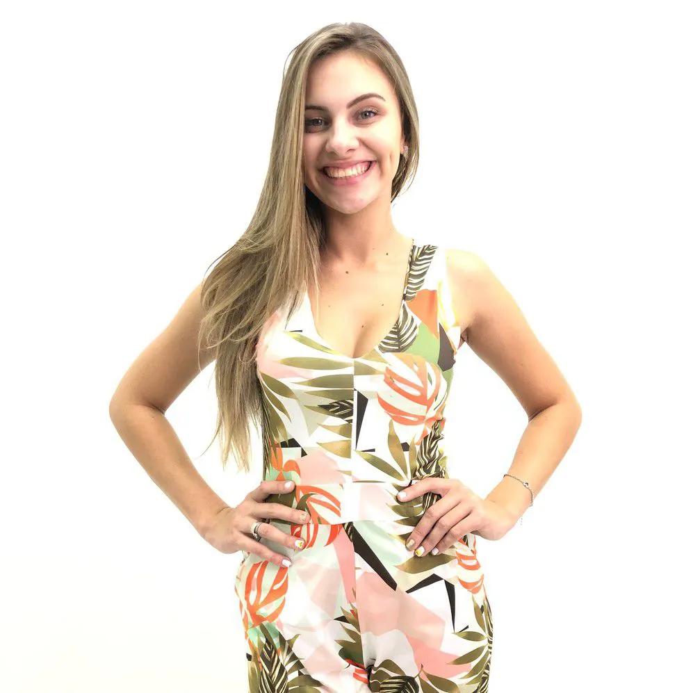 MACACÃO TRIMIX LONGO ESTAMPADO FEMININO