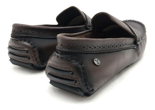 SAPATO POLO FOOTWEAR  DOCKSIDE  CHOCOLATE MASCULINO