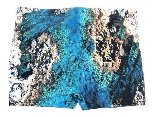 SUNGA NEW BEACH BOX ESTAMPA GRUTA MASCULINA