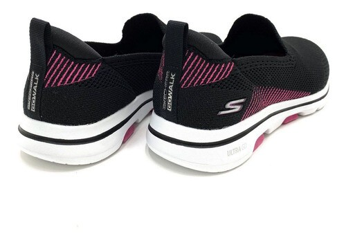 TENIS SLIP ON SKECHERS  ESPORTE GO WALK 5 PRETO FEMININO