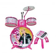 Bateria Infantil Barbie PopStar - FUN