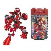 Blocos de Montar Robô Guerreiro Red Armor - Xalingo