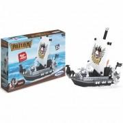Blocos para Montar Piratas Navio 129 Peças - Xalingo