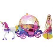 Boneca Barbie Dreamtopia Carruagem 2 em 1 - Mattel