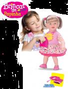 Boneca Brincar de Papinha - Diver Toys