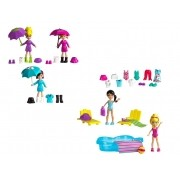 Boneca Polly Pocket - Diversão na Chuva/ Diversão na Piscina - Mattel
