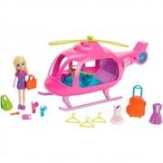 Boneca Polly Pocket Helicóptero Popstar - Mattel