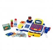 Caixa Registradora Hora das Compras Azul com Luz e Som Grande - DM Toys