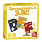 Jogo Aprendendo o ABC em Madeira - Brincadeira de Criança