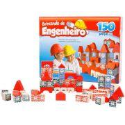 Jogo Brincando de Engenheiro 150 Peças em Madeira - Xalingo