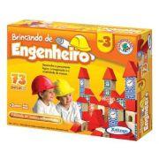 Jogo Brincando de Engenheiro 73 Peças em Madeira - Xalingo