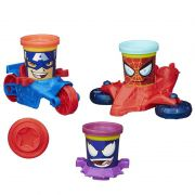 Massinha Play-Doh Can-Heads Veículos Marvel - Hasbro