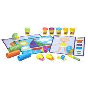 Massinha Play-Doh Moldar e Aprender Texturas e Ferramentas - Hasbro
