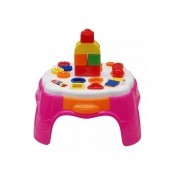 Mesa de Atividades Play Time Rosa - Cotiplás
