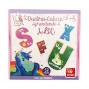 Quebra-cabeça Aprendendo o ABC Meu Pequeno Unicórnio em Madeira - Brincadeira de Criança