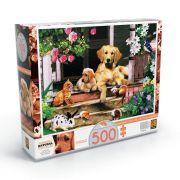 Quebra-cabeça Bichos na Varanda Puzzle 500 peças - Grow