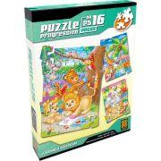 Quebra-cabeça Progressivo Floresta Divertida Puzzle 16/25/49 Peças - Grow