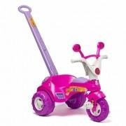 Triciclo Infantil Baby Music com Empurrador Rosa - Cotiplás