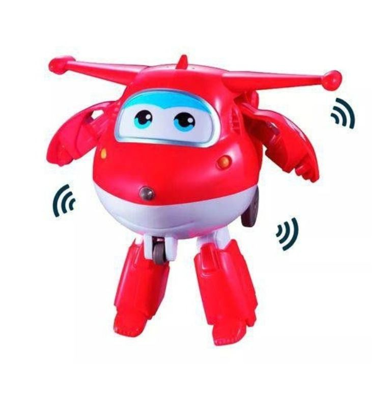 Avião Super Wings Jett Grava e Fala - FUN