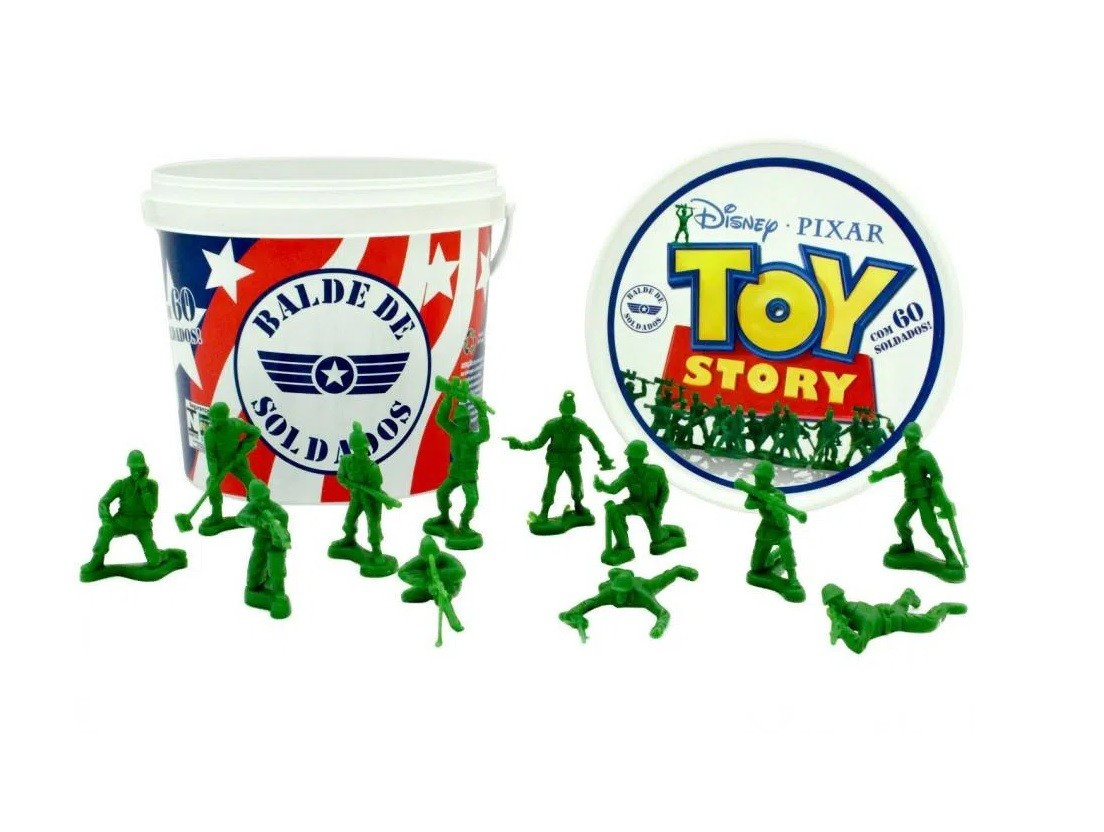 Balde de Soldados Disney Pixar Toy Story - Toyng