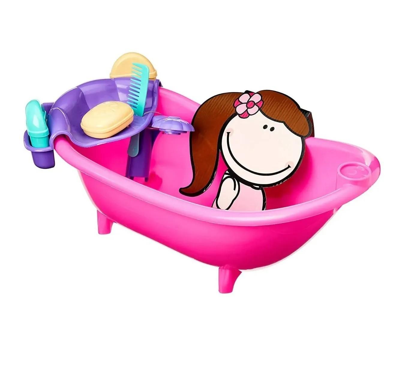 Banheira de Boneca Coleção Pitica Banho de Espuma - Tilin Brinquedos
