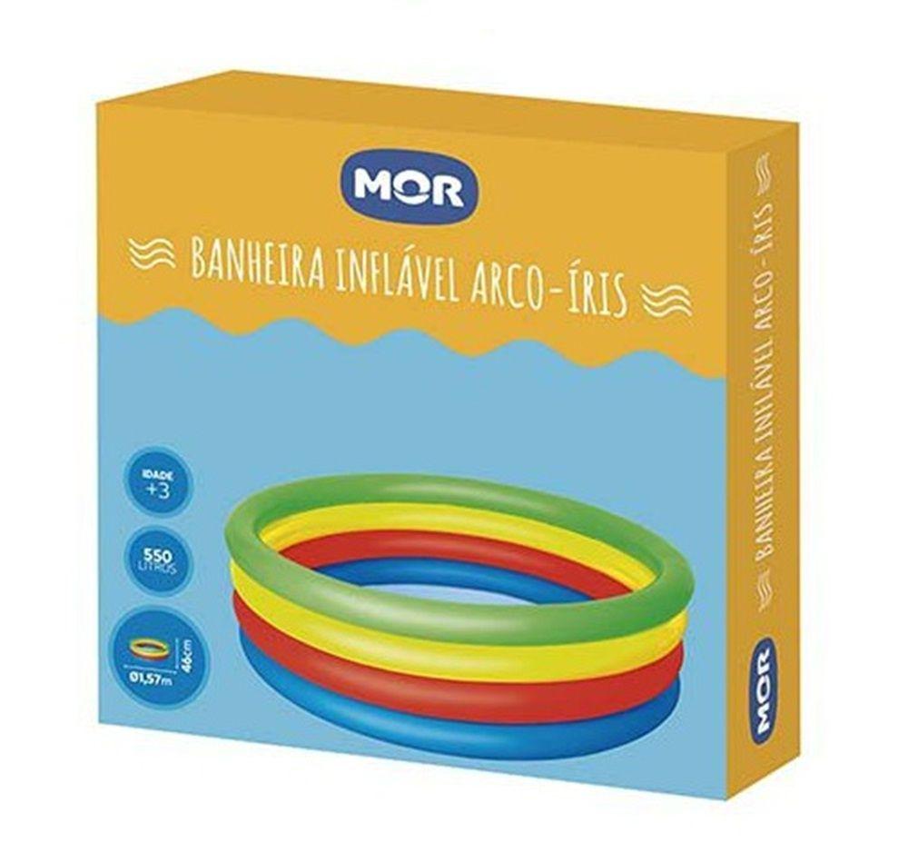 Banheira Inflável Arco-íris 550 Litros - MOR