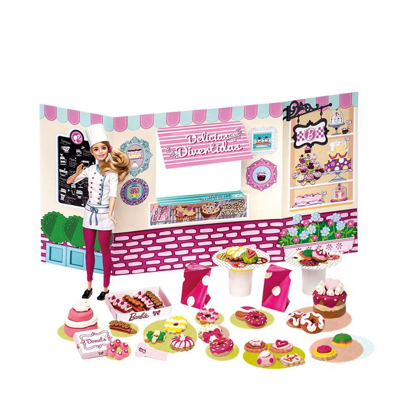 Barbie Massinhas Linha Food Truck Doceria e Delícias Divertidas - Fun