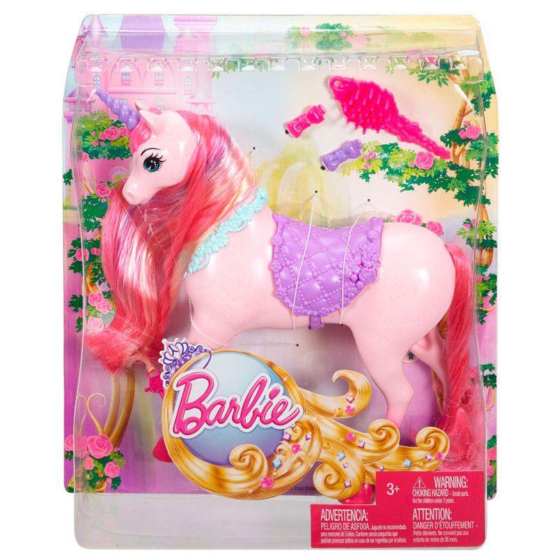 Barbie Unicórnio Reino dos Penteados Mágicos - Mattel