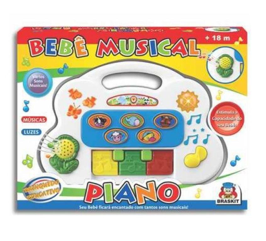 Bebê Musical Piano Sortidos - Braskit