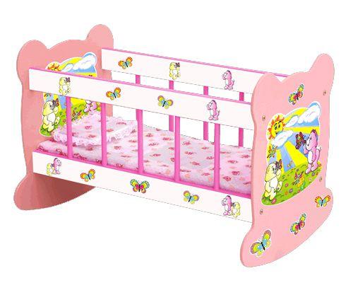 Berço para Boneca Madeira Ursinhos - Junges