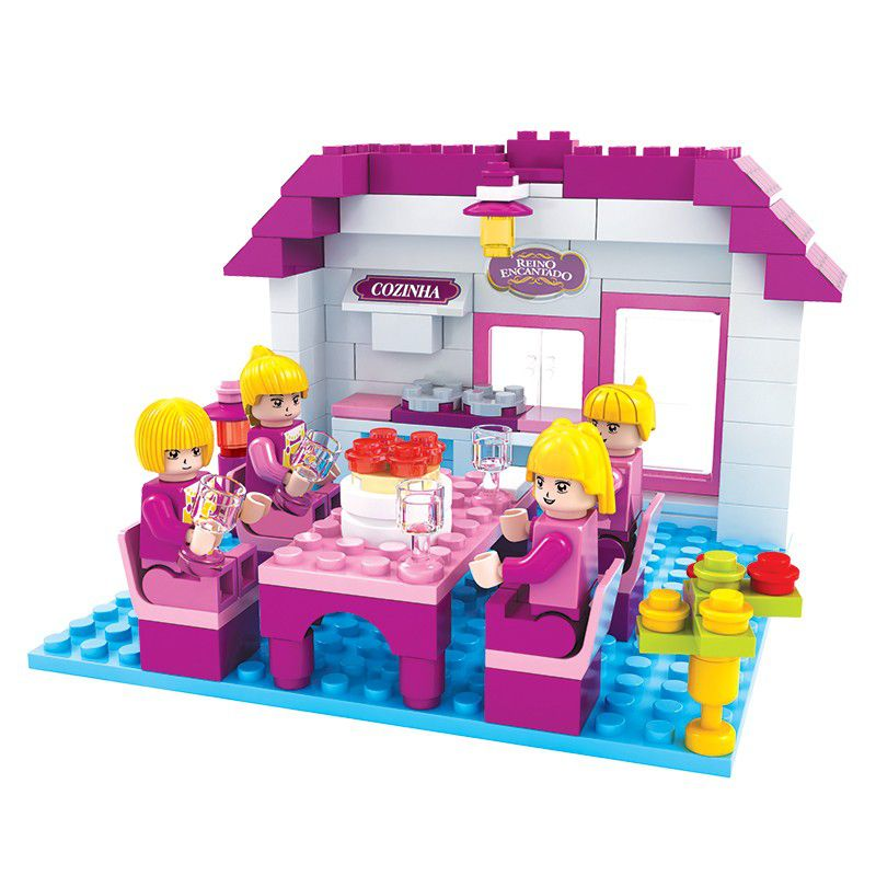 Blocos de Montar Cozinha Reino Encantado Click It com 148 Peças - PlayCis