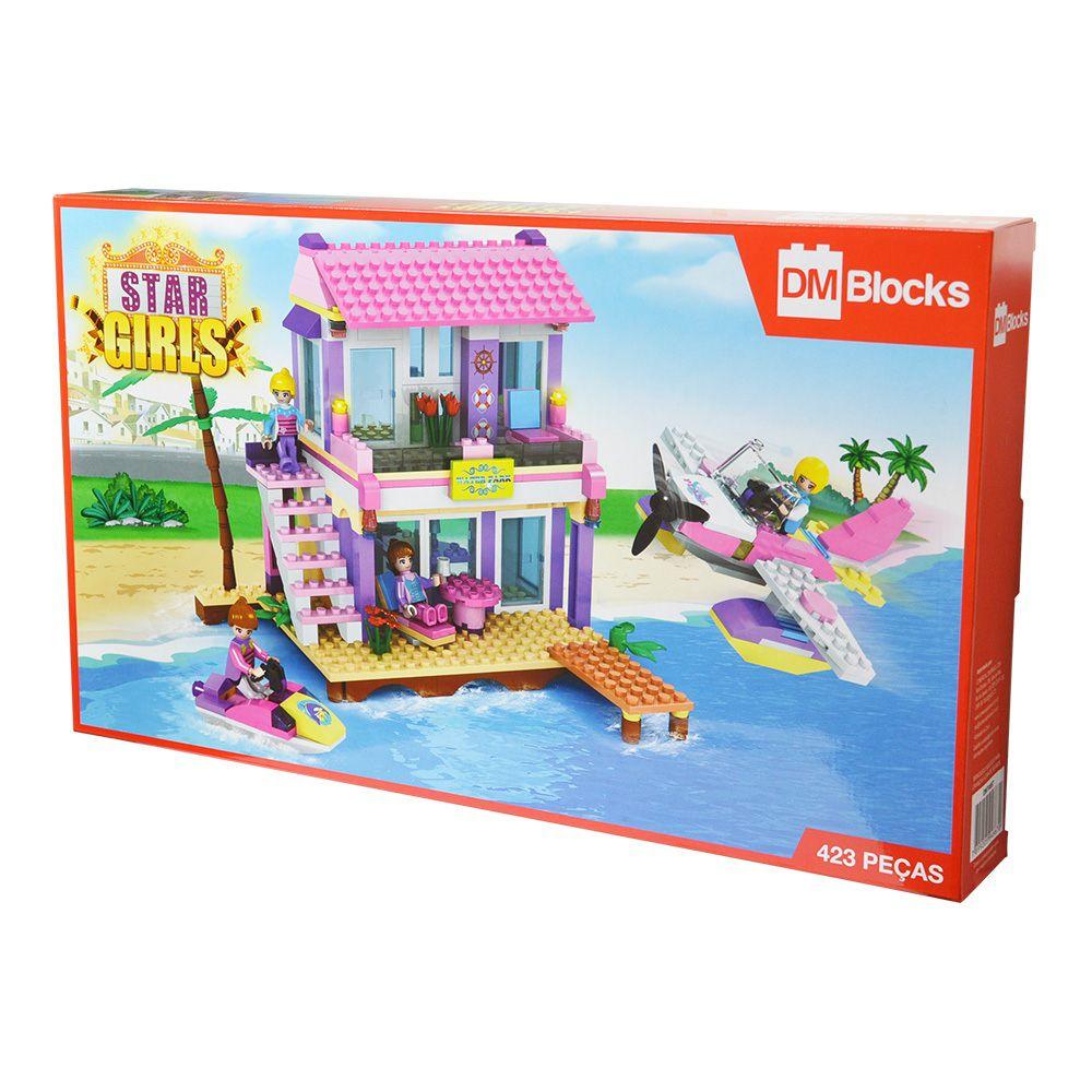 Blocos de Montar Star Girls 423 Peças - Dm Toys