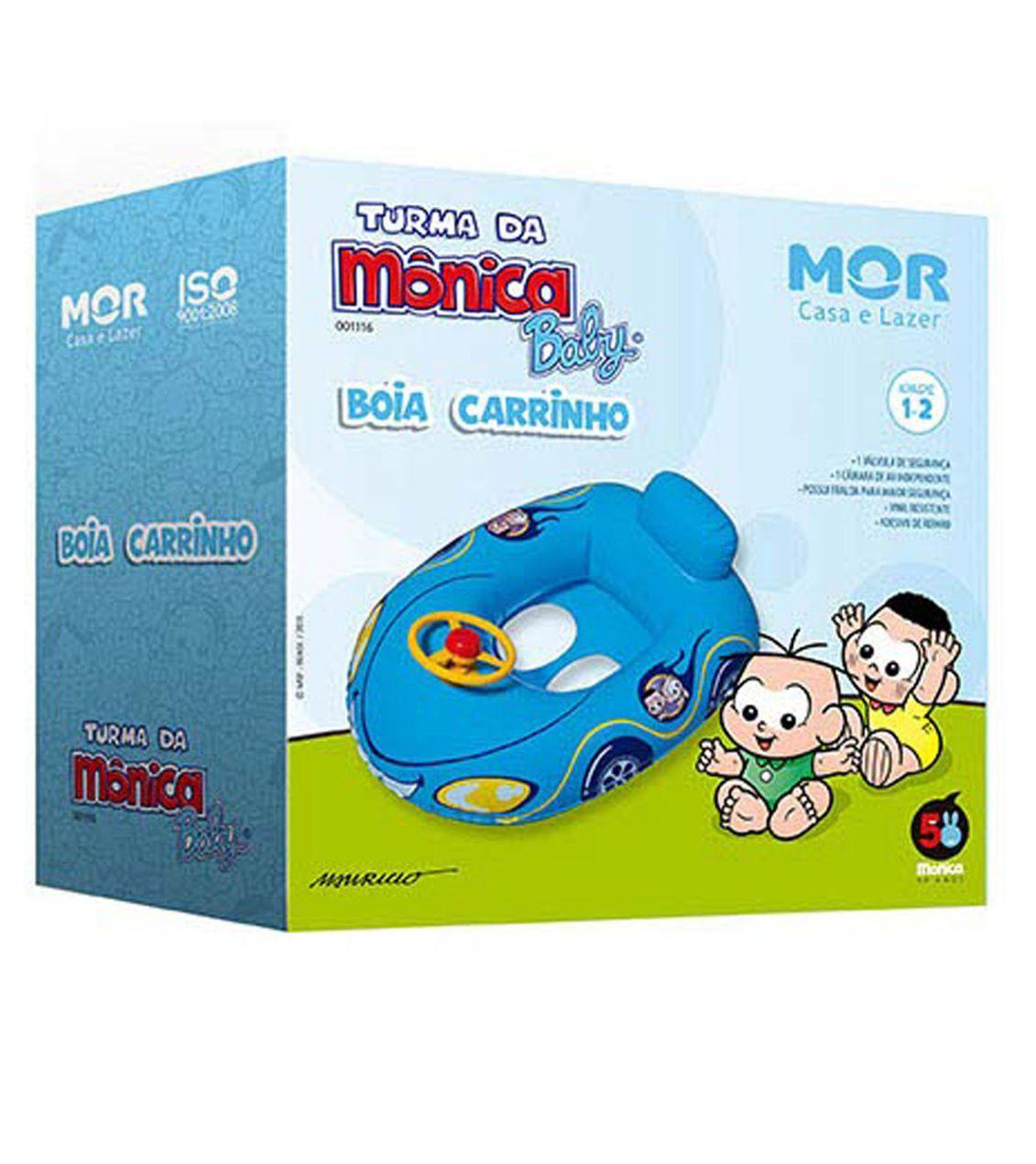 Boia com Fralda Carrinho Turma da Mônica Baby - MOR