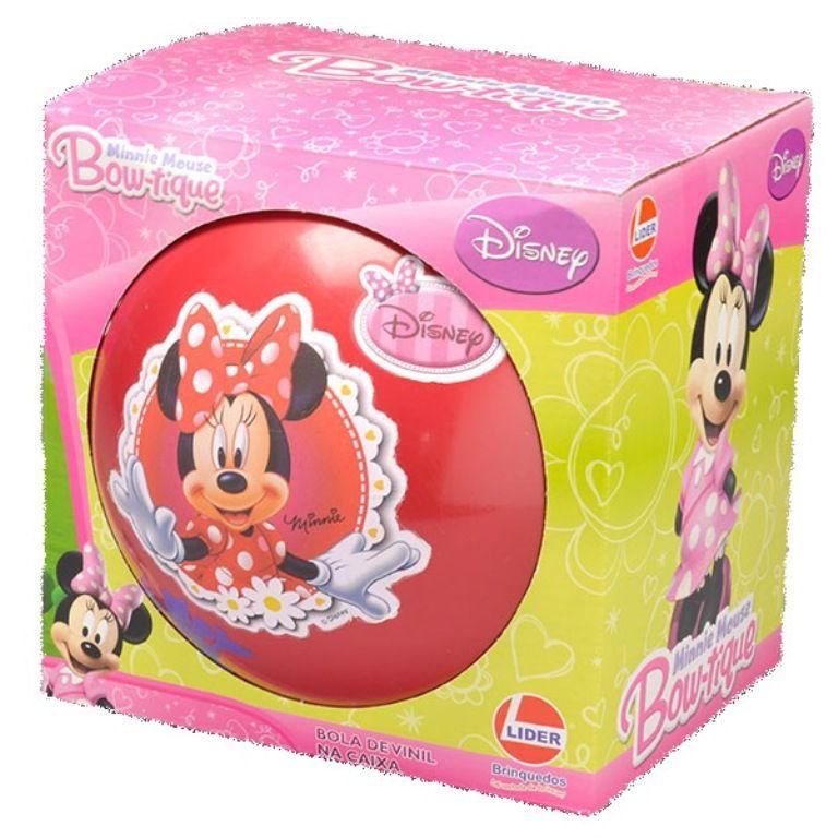 Bola em Vinil Bowtique Minnie Mouse Disney - Lider Brinquedos