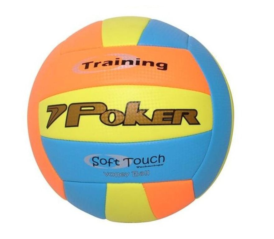 Bola Poker Soft Touch Volley Ball Training Neon Tricolor Sortidas - Poker