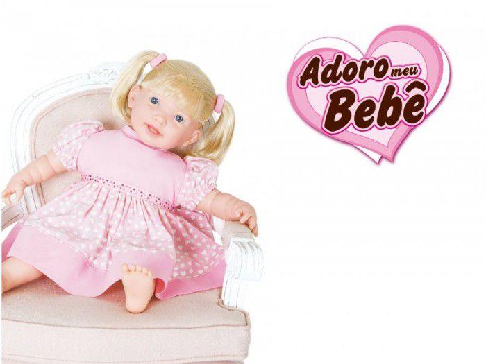 Boneca Adoro meu Bebê 80 Frases - Super Toys