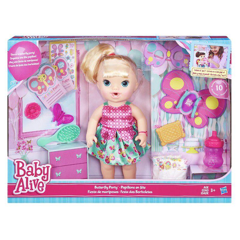 Boneca Baby Alive Festa das Borboletas Loira - Hasbro
