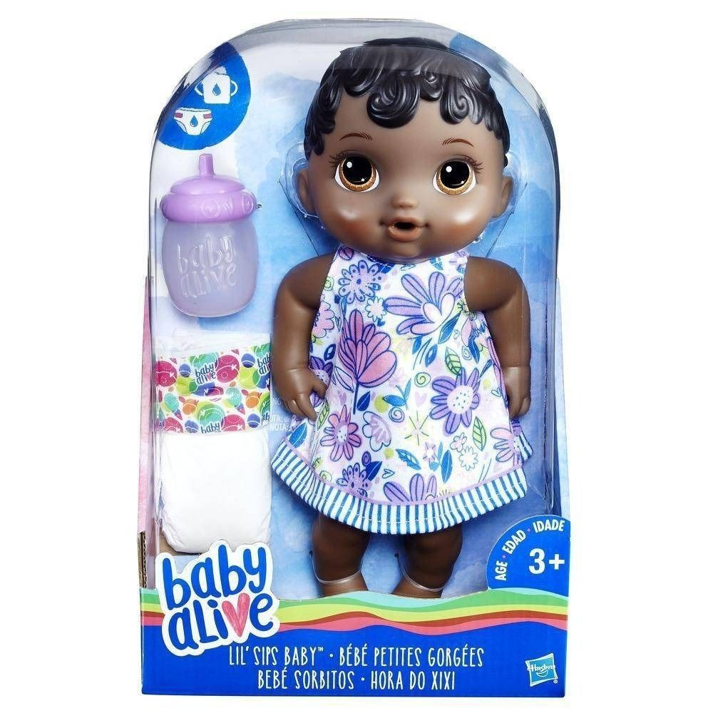 Boneca Baby Alive Hora do Xixi Negra - Hasbro