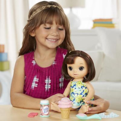 Boneca Baby Alive Sobremesa Mágica Morena - Hasbro