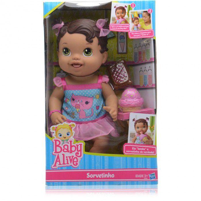 Boneca Baby Alive Sorvetinho Morena - Hasbro