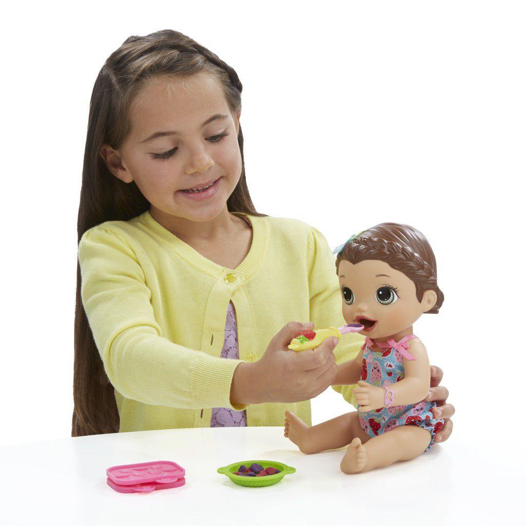 Boneca Baby Alive Super Snacks Lanchinhos Divertidos Morena - Hasbro