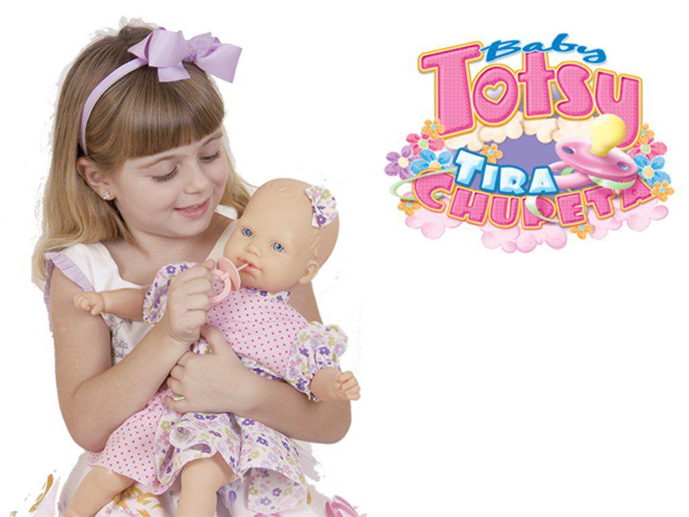 Boneca Baby Totsy Tira Chupeta - Super Toys