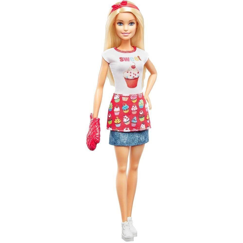 Boneca Barbie Cozinhando e Criando Chefe de Bolinhos - Mattel