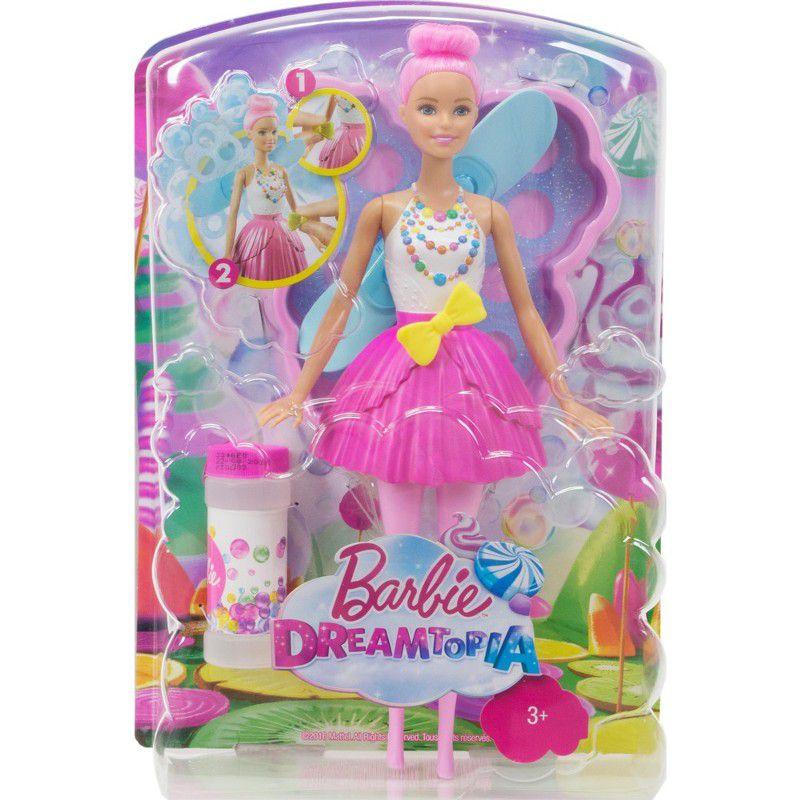 Boneca Barbie Dreamtopia Fada Bolhas Mágicas - Mattel