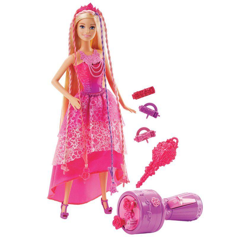 Boneca Barbie Reinos Mágicos Princesa Tranças Mágicas - Mattel