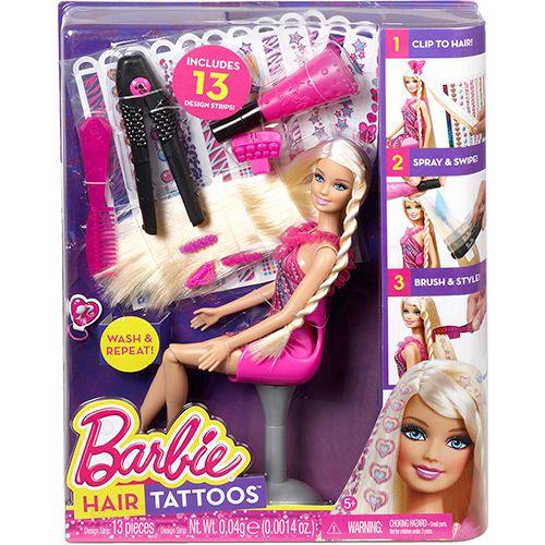 Boneca Barbie Tatuagem de Cabelos ? Mattel