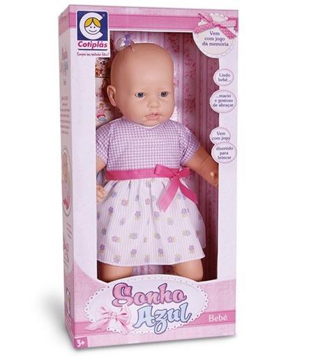 Boneca Bebê Sonho Azul 60 Frases - Cotiplás