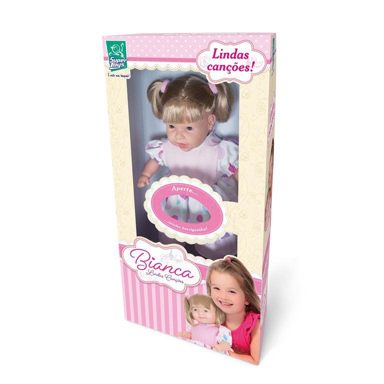 Boneca Bianca Lindas Canções - Super Toys